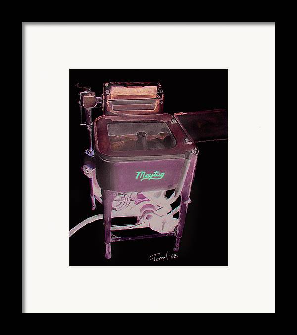 Washer Framed Print featuring the painting Maytag by Ferrel Cordle