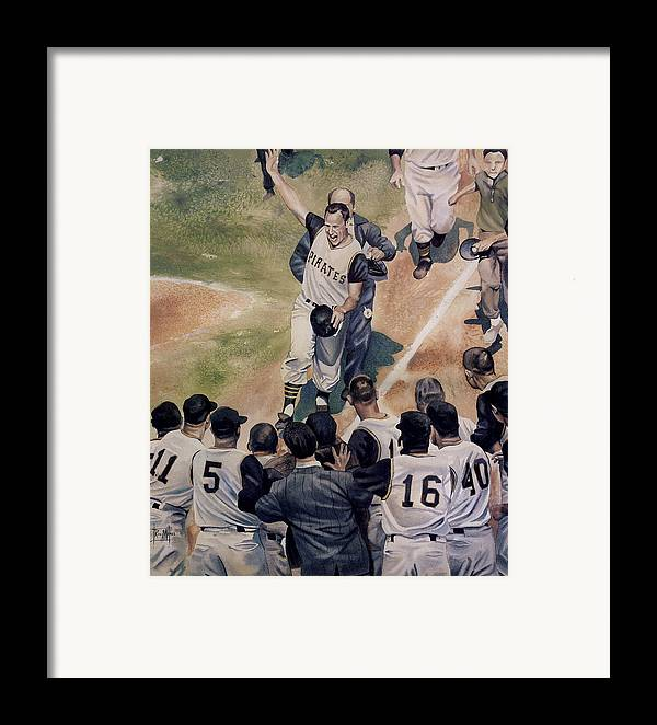 Baseball Framed Print featuring the painting Maz by Rich Marks