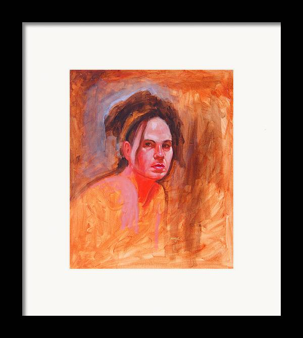 Portrait Framed Print featuring the painting Maza by John Tartaglione