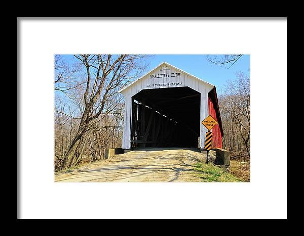 Mcallisters Bridge Framed Print featuring the photograph Mcallister's Bridge by David Arment