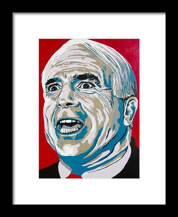 Politics Framed Print featuring the painting Mccain by Dennis McCann