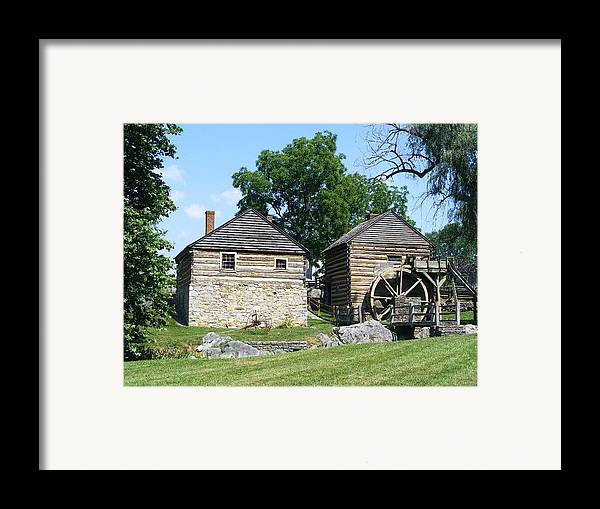 Raphine Framed Print featuring the photograph Mccormick Farm by Eddie Armstrong