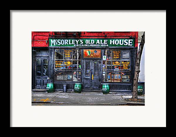 Mcsorley's Old Ale House Framed Print featuring the photograph Mcsorley's In Color by Randy Aveille