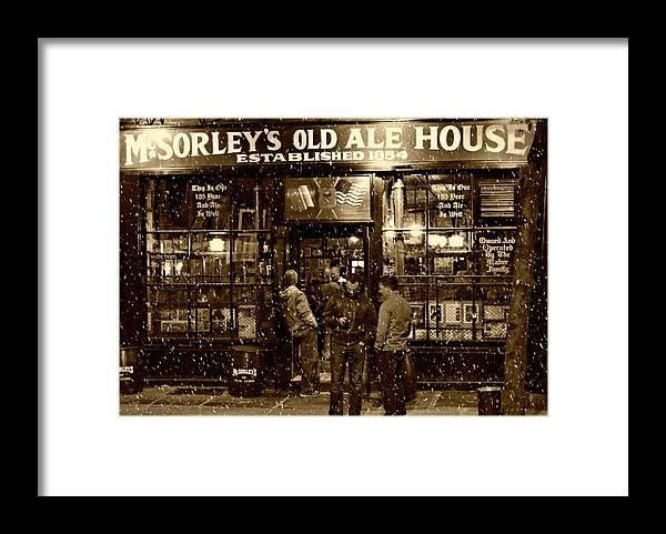 Mcsorley's Old Ale House Framed Print featuring the photograph McSorley's Old Ale House by Randy Aveille