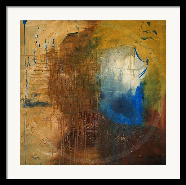 Abstract Framed Print featuring the painting Me - Abstract Colors by Niki Sands