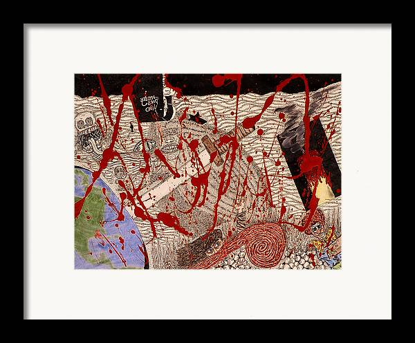 Abstract Framed Print featuring the print Me Against The World by William Watson