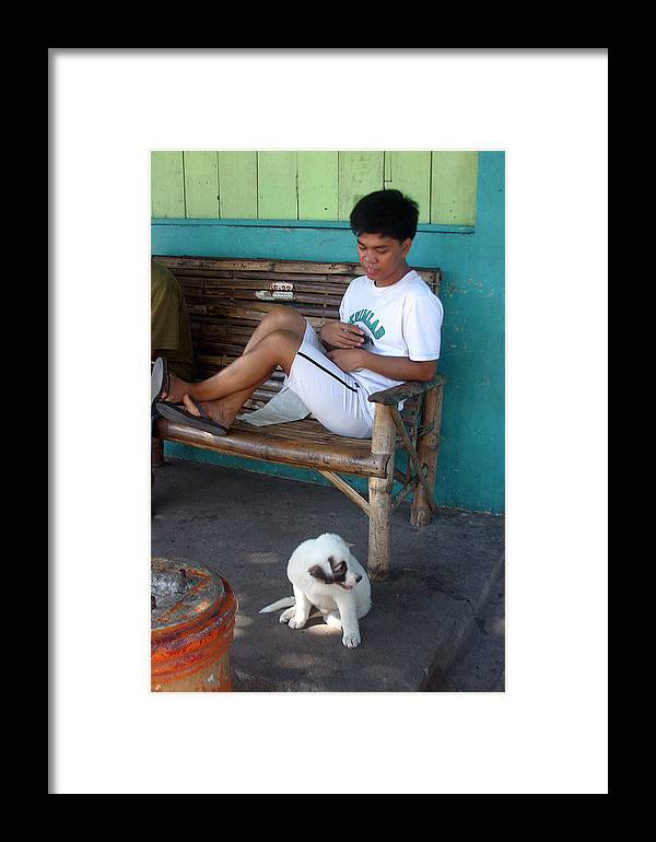 Photographer Framed Print featuring the photograph Me And My Pup by Jez C Self