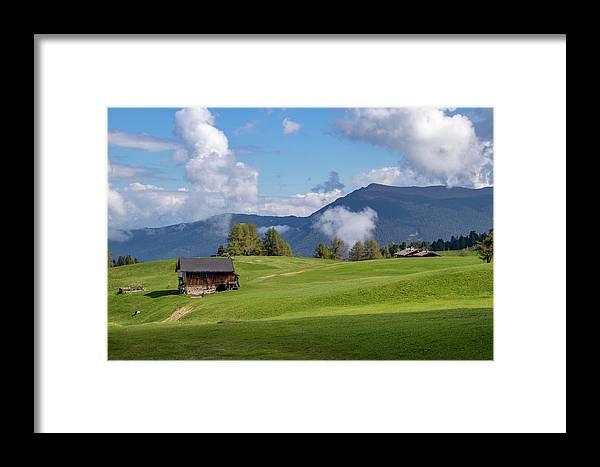 Meadow In Alpe Di Siusi Framed Print featuring the photograph Meadow In Alpe Di Siusi by Carolyn Derstine