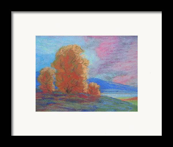Landscape Framed Print featuring the painting Meadowland by Belinda Consten