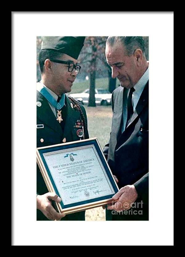 U.s. President Framed Print featuring the photograph Medal Of Honor Ceremony by Lawrence Joel