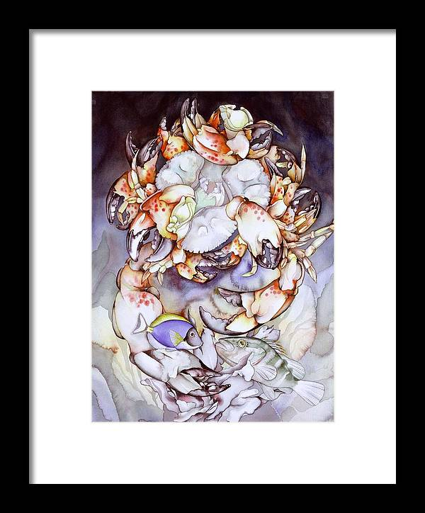 Sea Framed Print featuring the painting Medallion Series V by Liduine Bekman