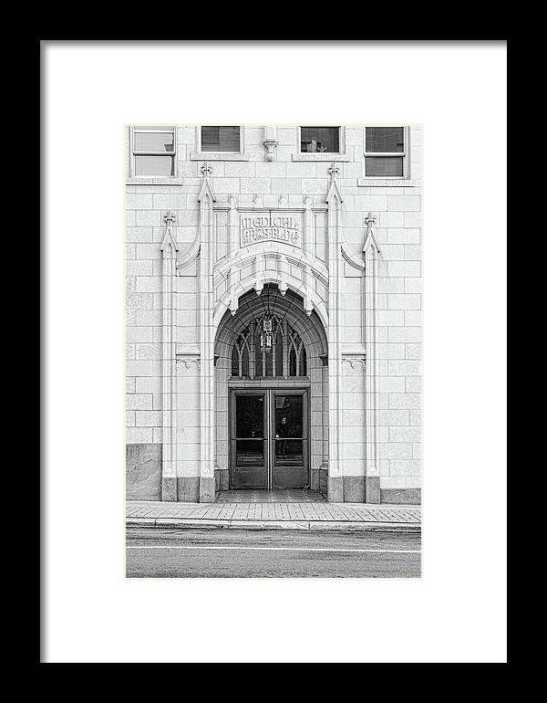 Medical Arts Entry Framed Print by Sharon Popek