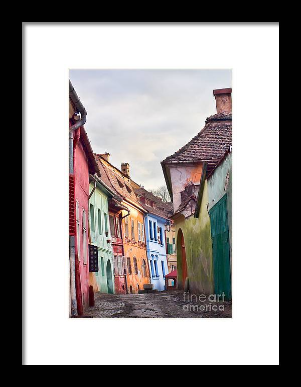 Architecture Framed Print featuring the photograph Medieval Streets by Gabriela Insuratelu