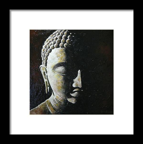 Buddha Framed Print featuring the painting Meditation 1 by Eddie Lim