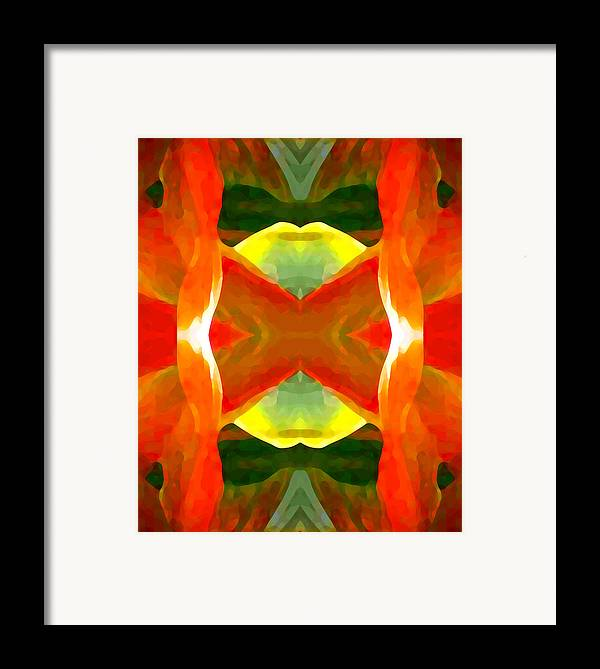 Abstract Framed Print featuring the painting Meditation by Amy Vangsgard