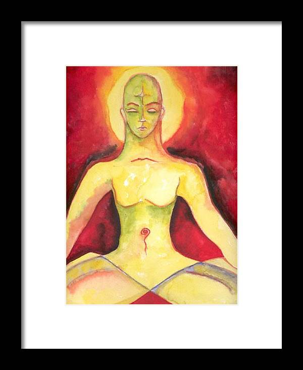 Asana Framed Print featuring the painting Meditation by Erika Brown
