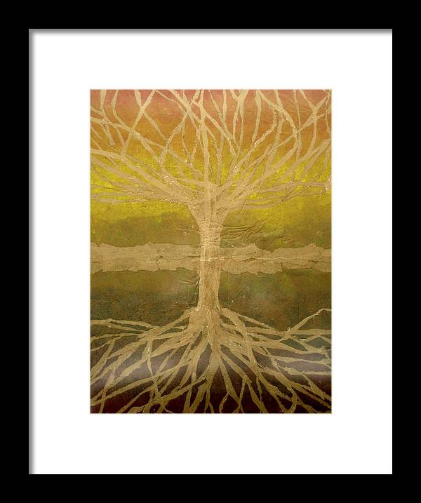 Abstract Framed Print featuring the painting Meditation by Leah Tomaino