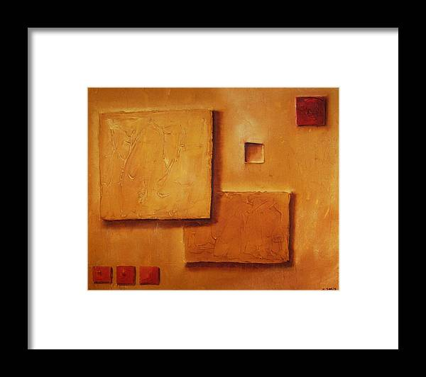 Contemporary Framed Print featuring the painting Meditation No. 5 by Marco Solis