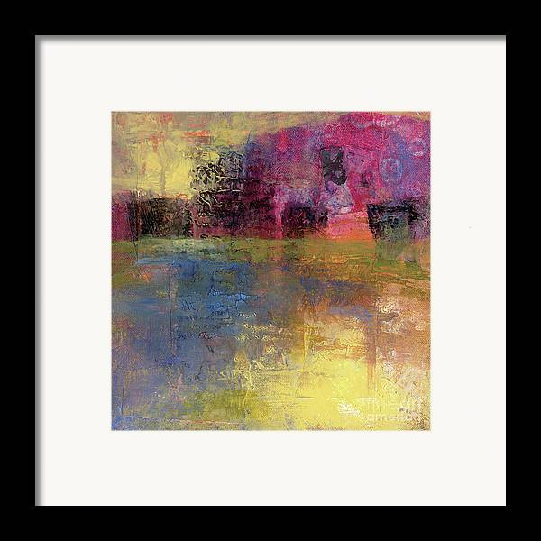 Abstract Framed Print featuring the painting Meditation Place by Melody Cleary