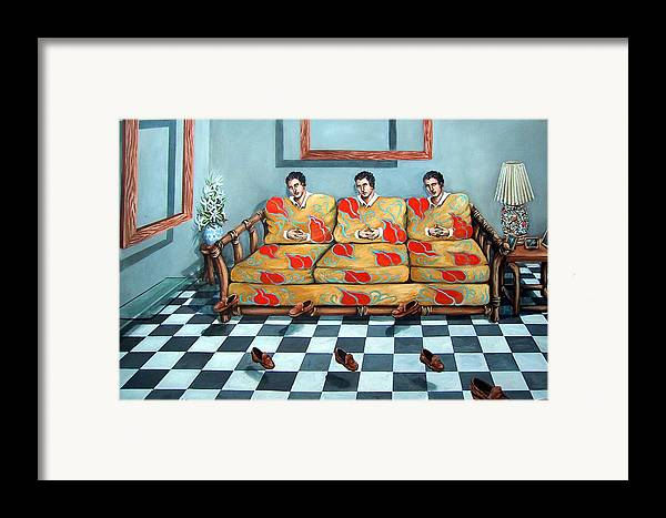 S Framed Print featuring the painting Meditation by Valerie Vescovi