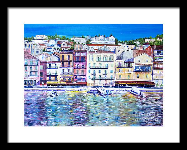 France Framed Print featuring the painting Mediterranean Morning by JoAnn DePolo