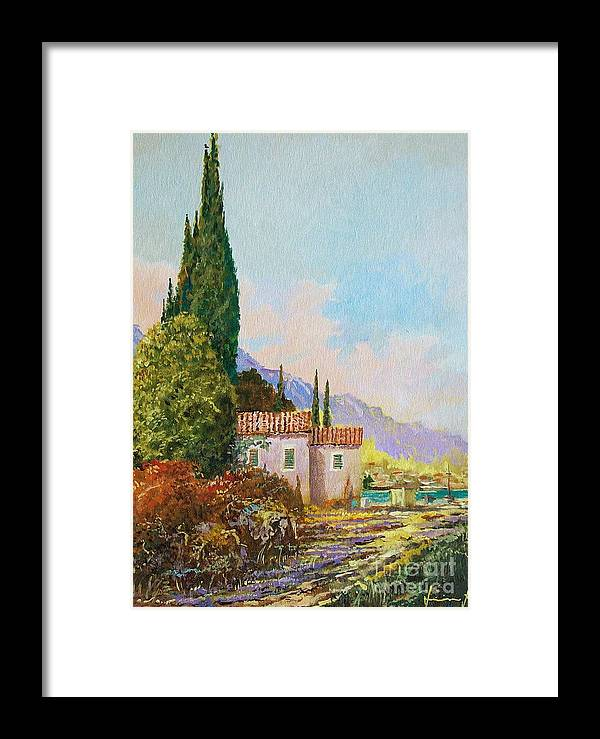 Original Painting Framed Print featuring the painting Mediterraneo 2 by Sinisa Saratlic