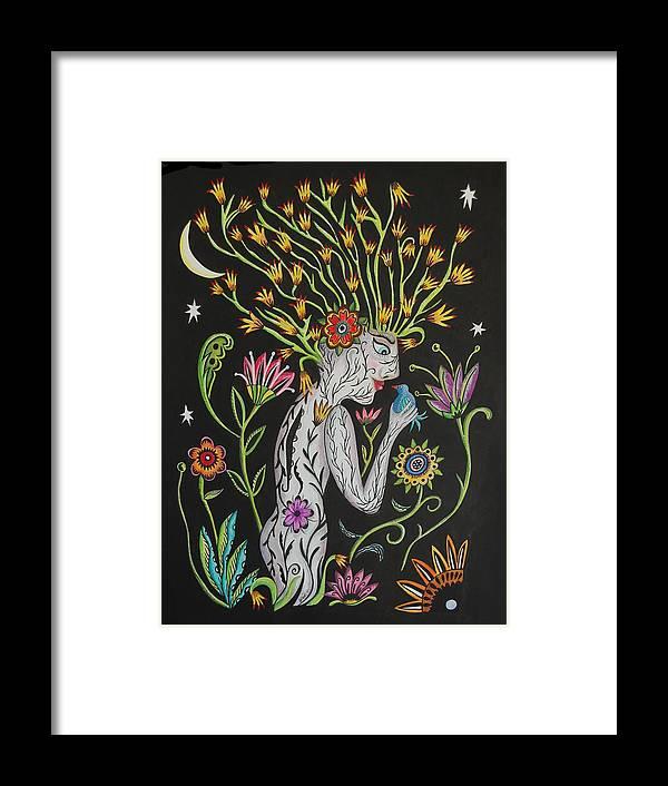 Garden Framed Print featuring the mixed media Medusa De Flores by Betty Wick