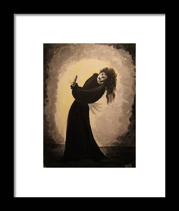 Yikes! Framed Print featuring the painting Medusa by Todd Artist