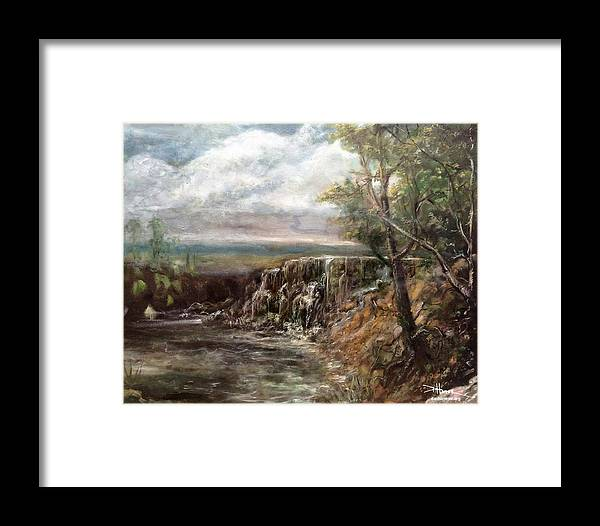 Framed Print featuring the painting Meeting Of The Waters by Dan Hammer