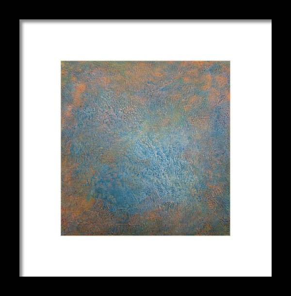 Abstract Framed Print featuring the painting Meeting The Maker I by Jacob Stempky