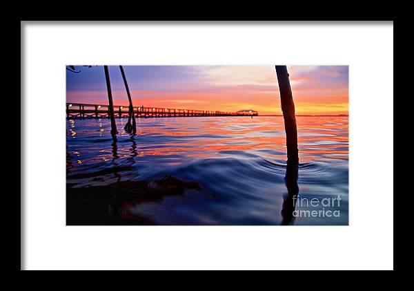 Melbourne Beach Framed Print featuring the photograph Mel Beach Red by Chris Wilson