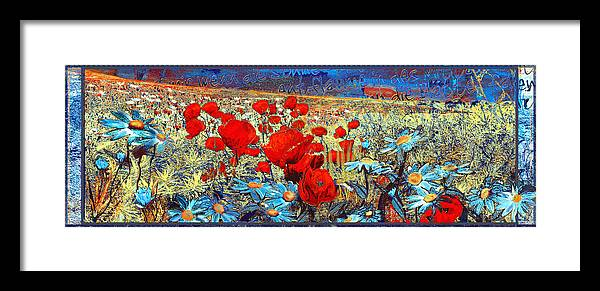 Papaver Framed Print featuring the painting Melancholic Of Late Summer by Anne Weirich