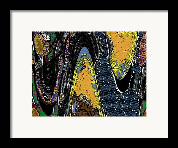 Abstractyellow Framed Print featuring the digital art Melancholy by LeeAnn Alexander