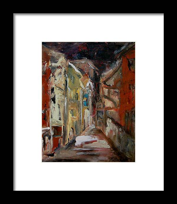Female Art Framed Print featuring the painting Melancholy Of The Day by Rome Matikonyte