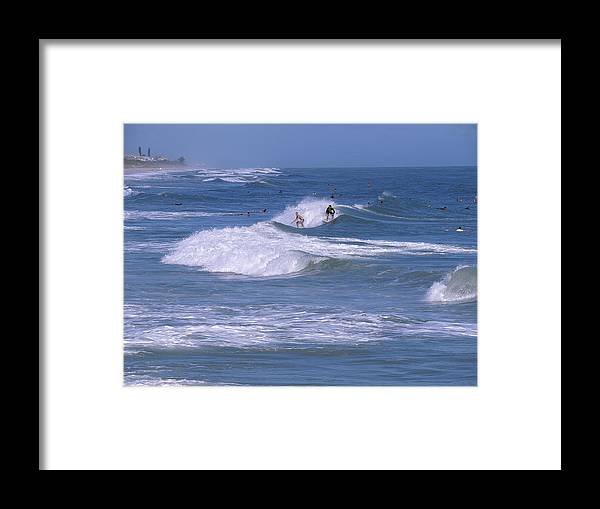 Florida Framed Print featuring the photograph Melbourne Beach Florida Usa by Allan Hughes