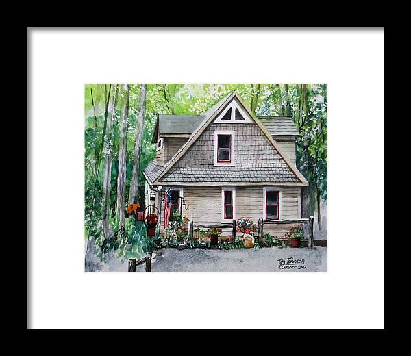 Highlands Framed Print featuring the painting Melissa's Mountain Escape by Tim Johnson