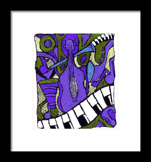 Jazz Framed Print featuring the painting Melllow Jazz by Wayne Potrafka