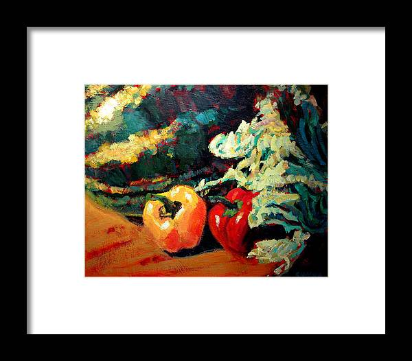 Still Life Paintings Framed Print featuring the painting Melon by Brian Simons