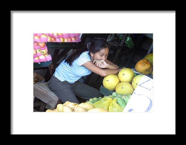 Photographer Framed Print featuring the photograph Melon Girl by Jez C Self