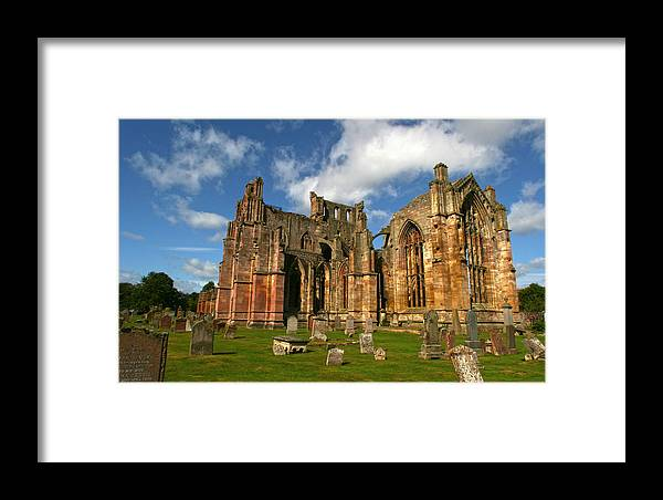 Melrose Framed Print featuring the photograph Melrose Abbey by Robert Och