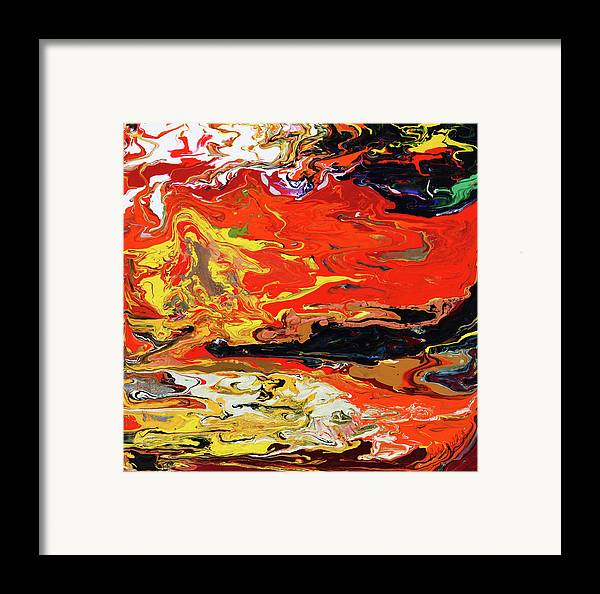 Fusionart Framed Print featuring the painting Melt by Ralph White