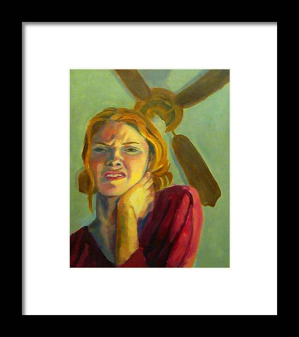Conceptual Framed Print featuring the painting Meltdown by Angelique Bowman