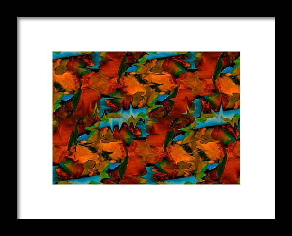 Abstract Framed Print featuring the painting Meltdown by Stephen Anderson