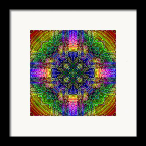 Kaleidoscope Framed Print featuring the digital art Melted by Lyle Hatch