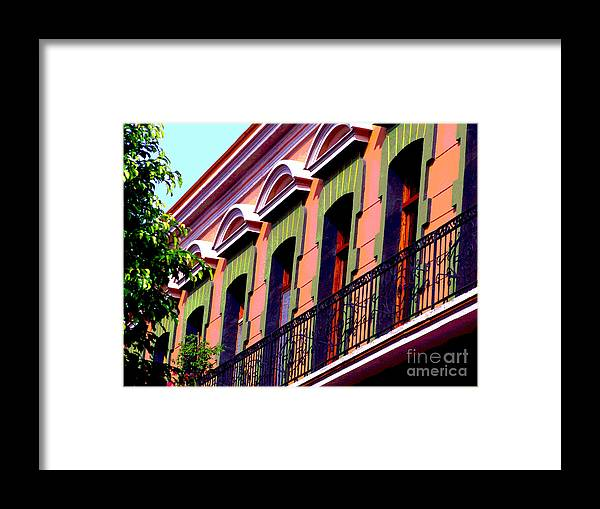 Darian Day Framed Print featuring the photograph Melville Balcony By Darian Day by Mexicolors Art Photography