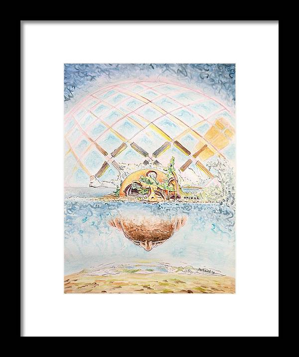 Watercolor Framed Print featuring the painting Meme Brain by Dave Martsolf