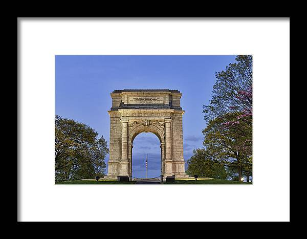 American Revolutionary War Framed Print featuring the photograph Memorial Arch Valley Forge by John Greim