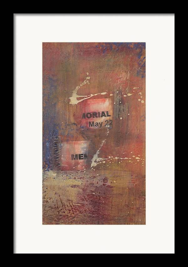 Abstract Framed Print featuring the painting Memorial Day 2008 by Kevin Stevens