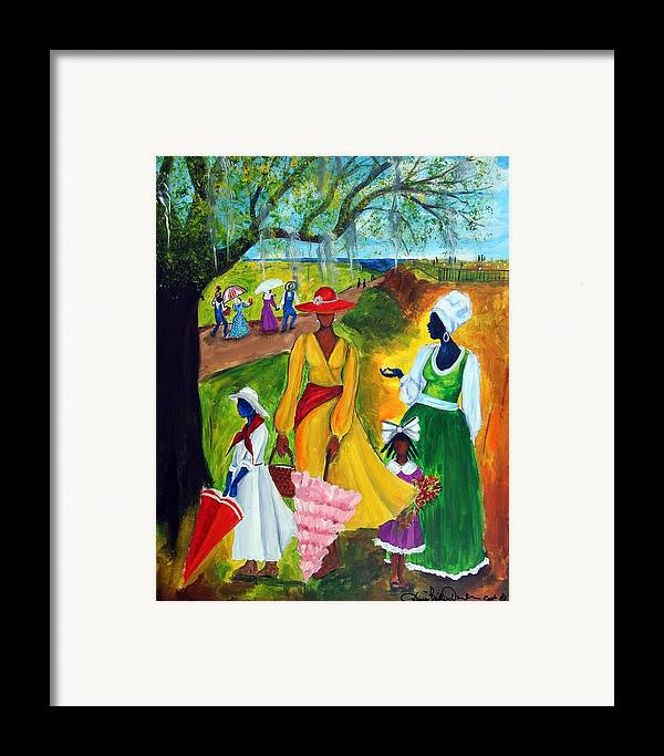 Gullah Framed Print featuring the painting Memorial Day by Diane Britton Dunham