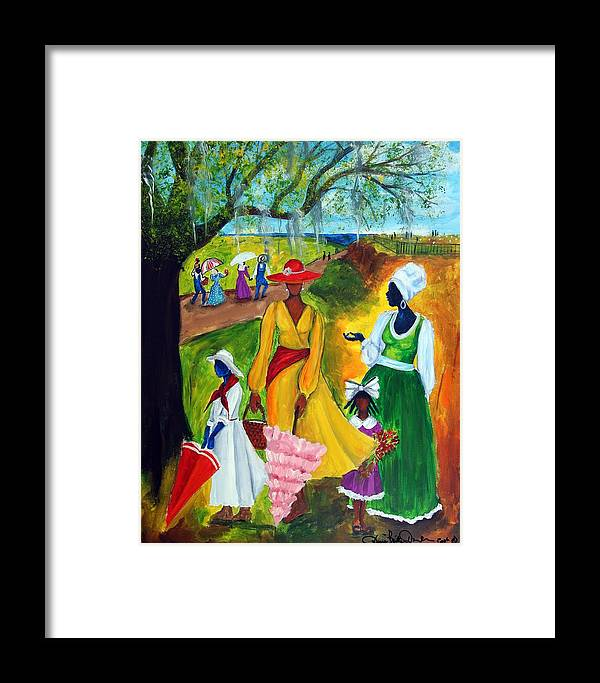 Gullah Framed Print featuring the painting Memorial Day by Diane Britton Dunham